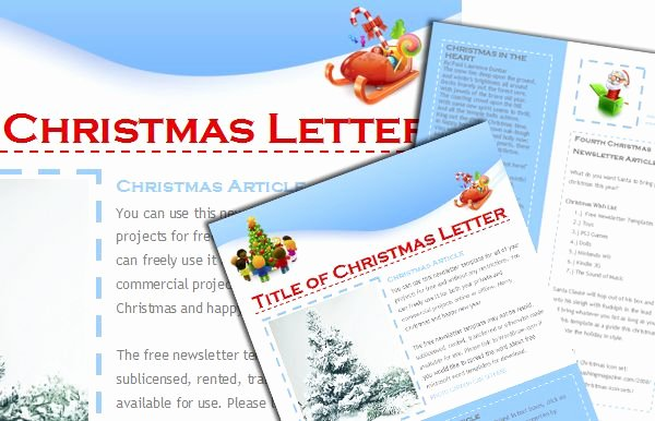 Word Christmas Letter Template Beautiful Free Christmas Newsletter Templates Include when Sending