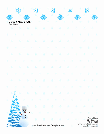Word Christmas Letter Template Best Of Christmas Letterhead with Snow