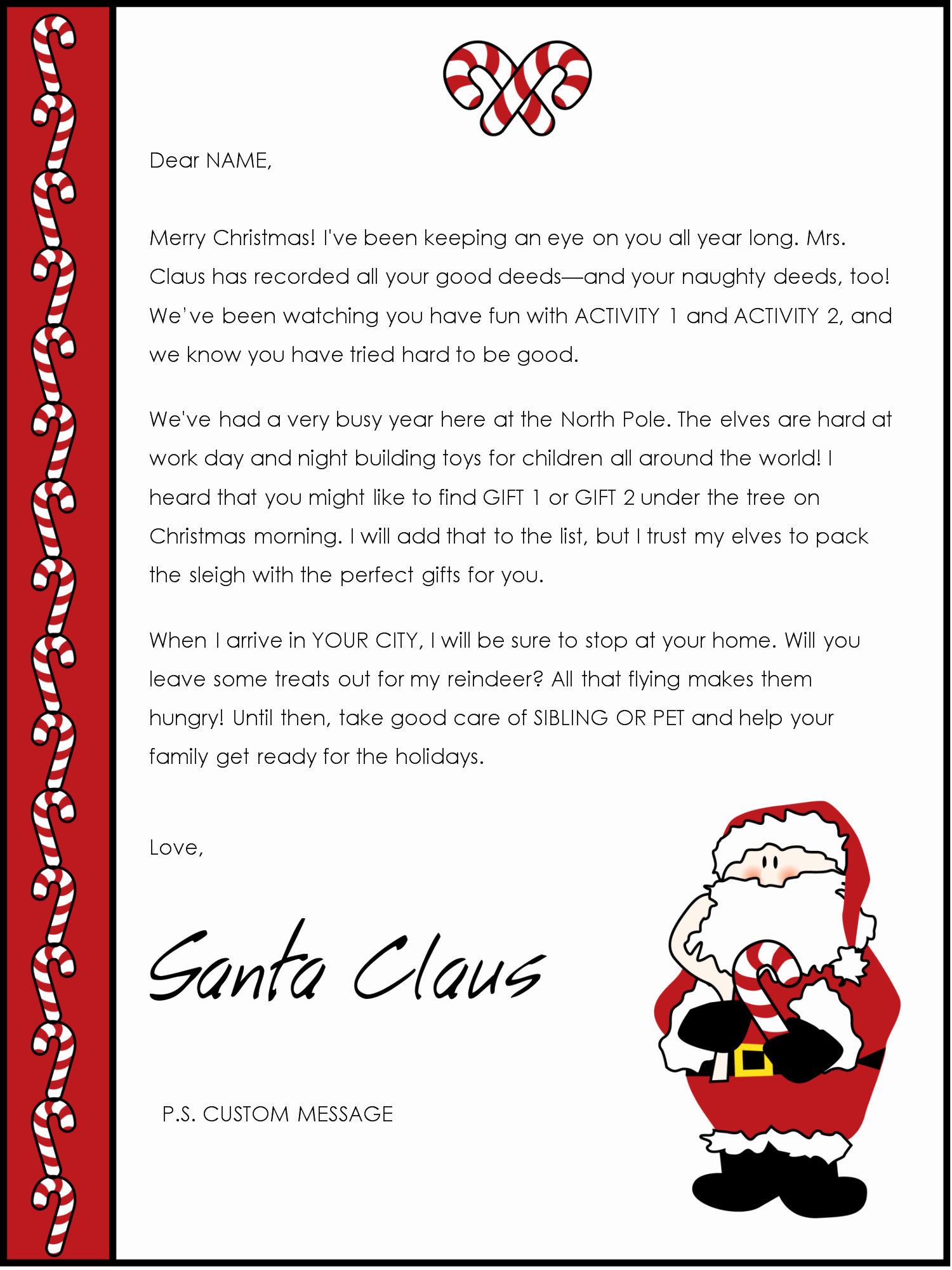 Word Christmas Letter Template Best Of Free Santa Letter Templates Downloads