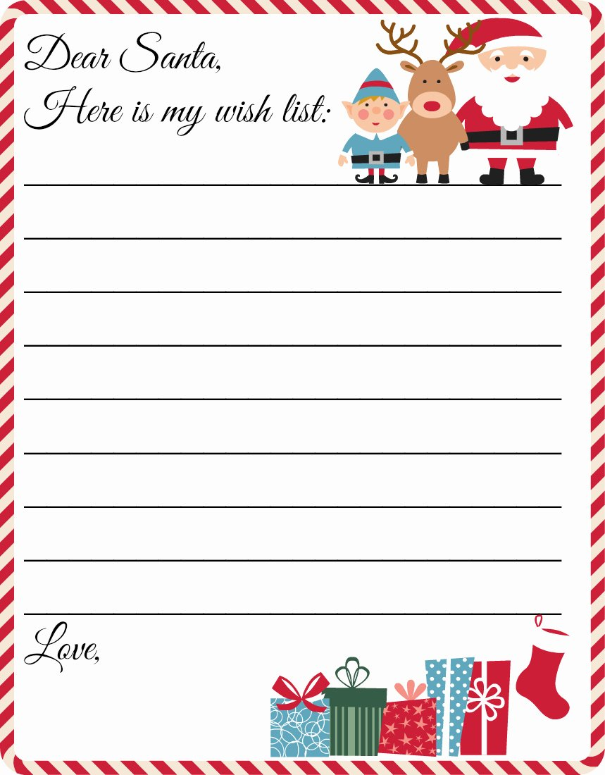 Word Christmas Letter Template Elegant Free Printable Letter to Santa Template Cute Christmas