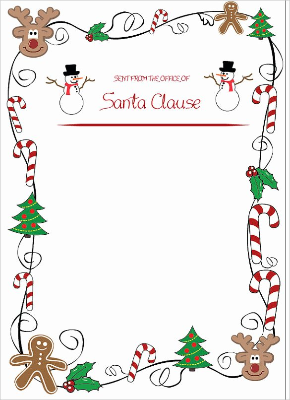 Word Christmas Letter Template Fresh 13 Christmas Letter Templates Word Apple Pages Google