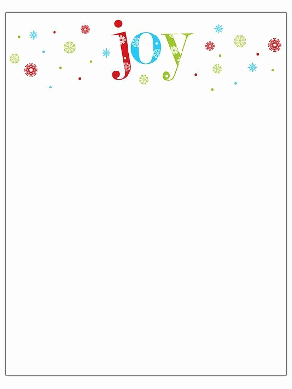 Word Christmas Letter Template Fresh 22 Christmas Stationery Templates Free Word Paper Designs