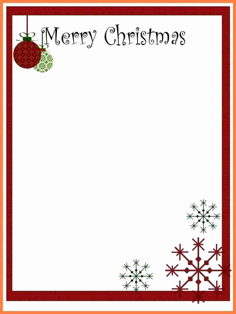 Word Christmas Letter Template Lovely 7 Christmas Letterhead Templates Word