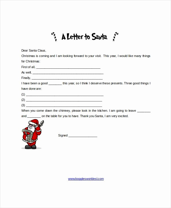 Word Christmas Letter Template Lovely Santa Letter Template 9 Free Word Pdf Psd Documents