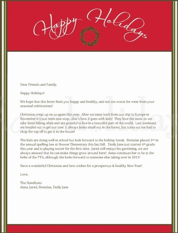 Word Christmas Letter Template Luxury 4 Christmas Letters – Find Word Letters