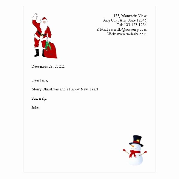 Word Christmas Letter Template Luxury Free Holiday Letterhead Template – Websites that Fer