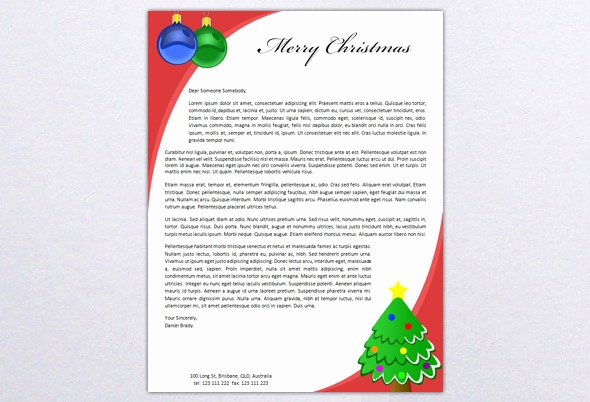 Word Christmas Letter Template New Free Personalized Stationery Make Your Own Business