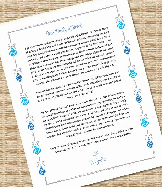 Word Christmas Letter Template New Microsoft Word Christmas Letter Template with ornaments