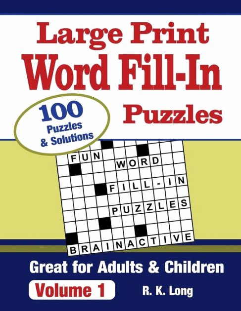 Word Fill In Printable Beautiful Print Word Fill In Puzzles Volume 1 100 Full Page