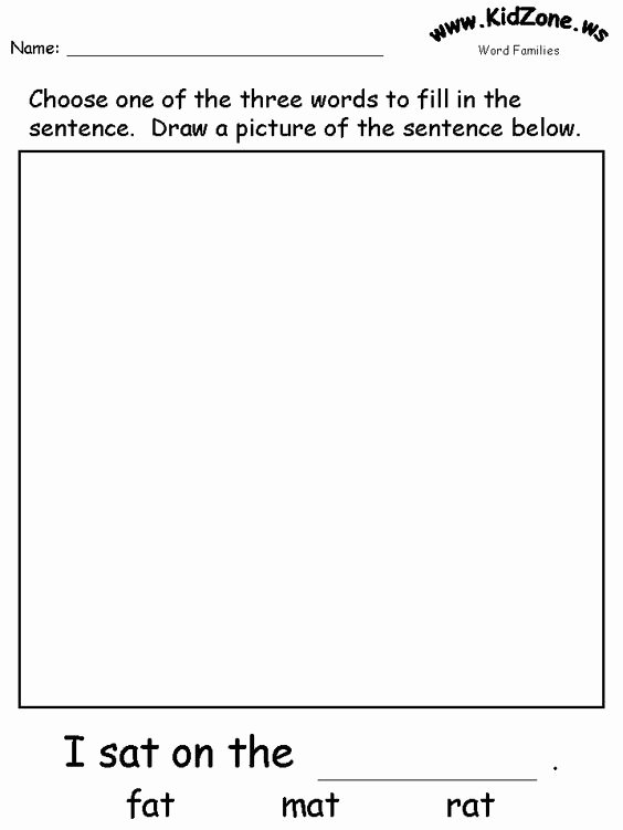 Word Fill In Printable New Phonics Printable Templates and Word Families On Pinterest