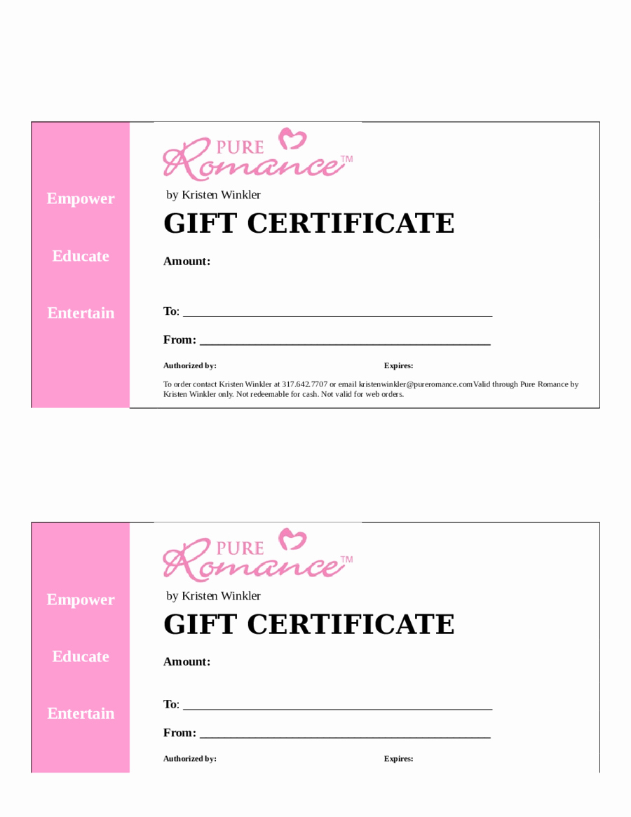 Wording for Gift Certificate Best Of 2018 Gift Certificate form Fillable Printable Pdf