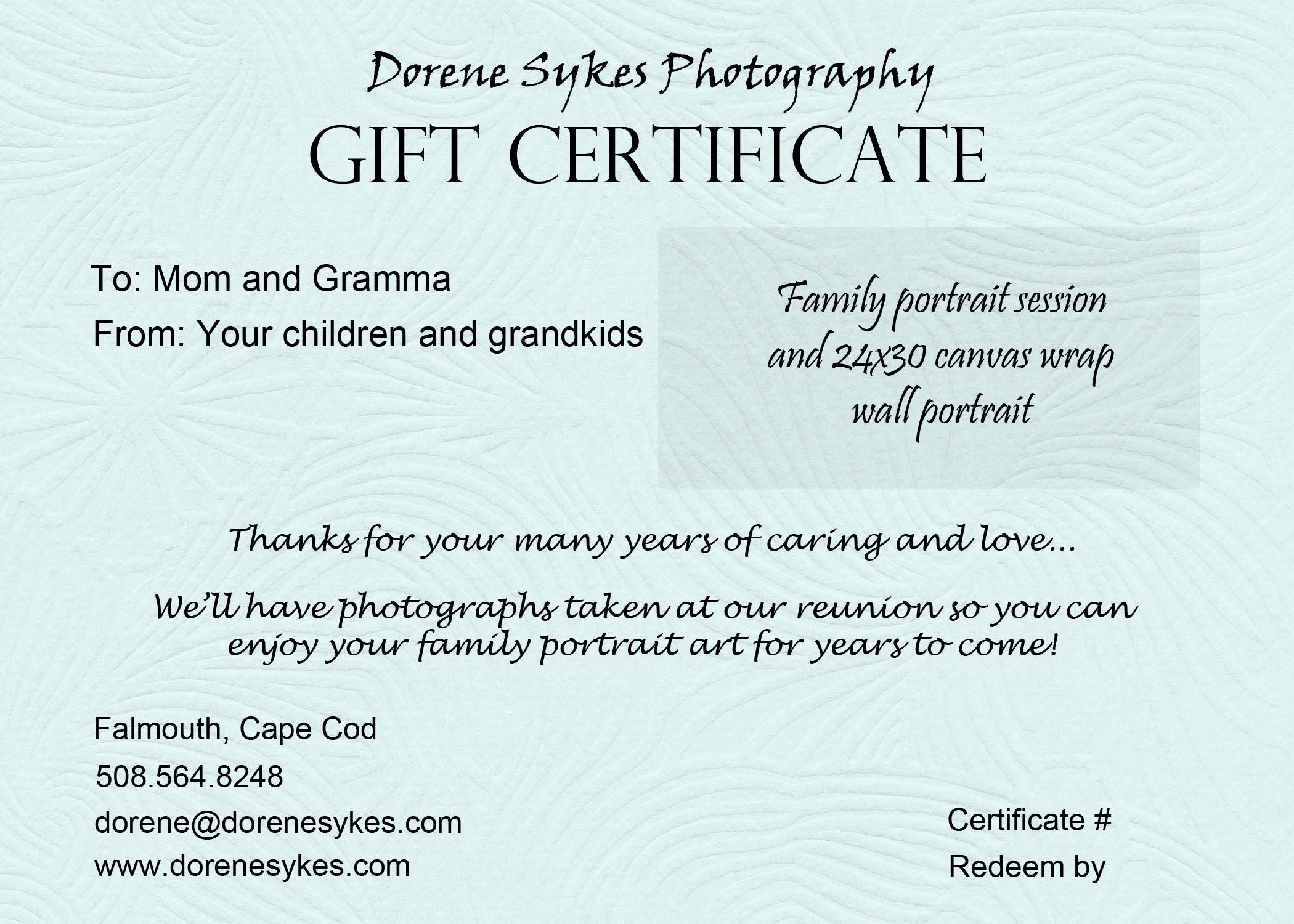 Wording for Gift Certificate Elegant Gift Certificate Sample