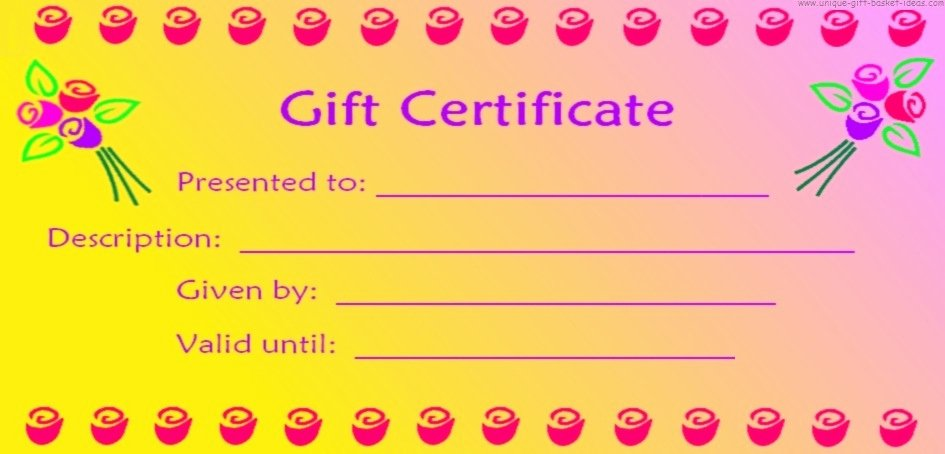 Wording for Gift Certificate Inspirational Free Printable Blank Gift Certificates