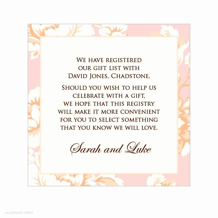 Wording for Gift Certificate Luxury T Card for Bridal Shower Wording