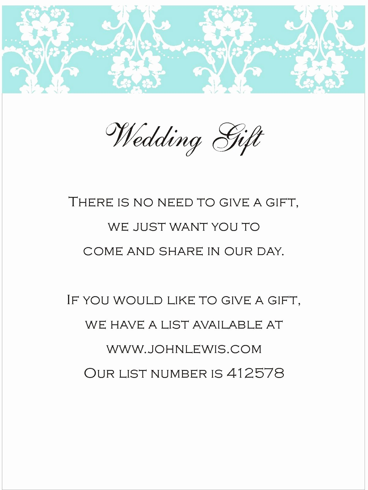 Wording for Gift Certificate New Inspiration for Weddings Invitations and Stationery