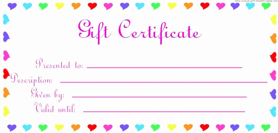 Wording for Gift Certificate Unique Free Printable Blank Gift Certificates