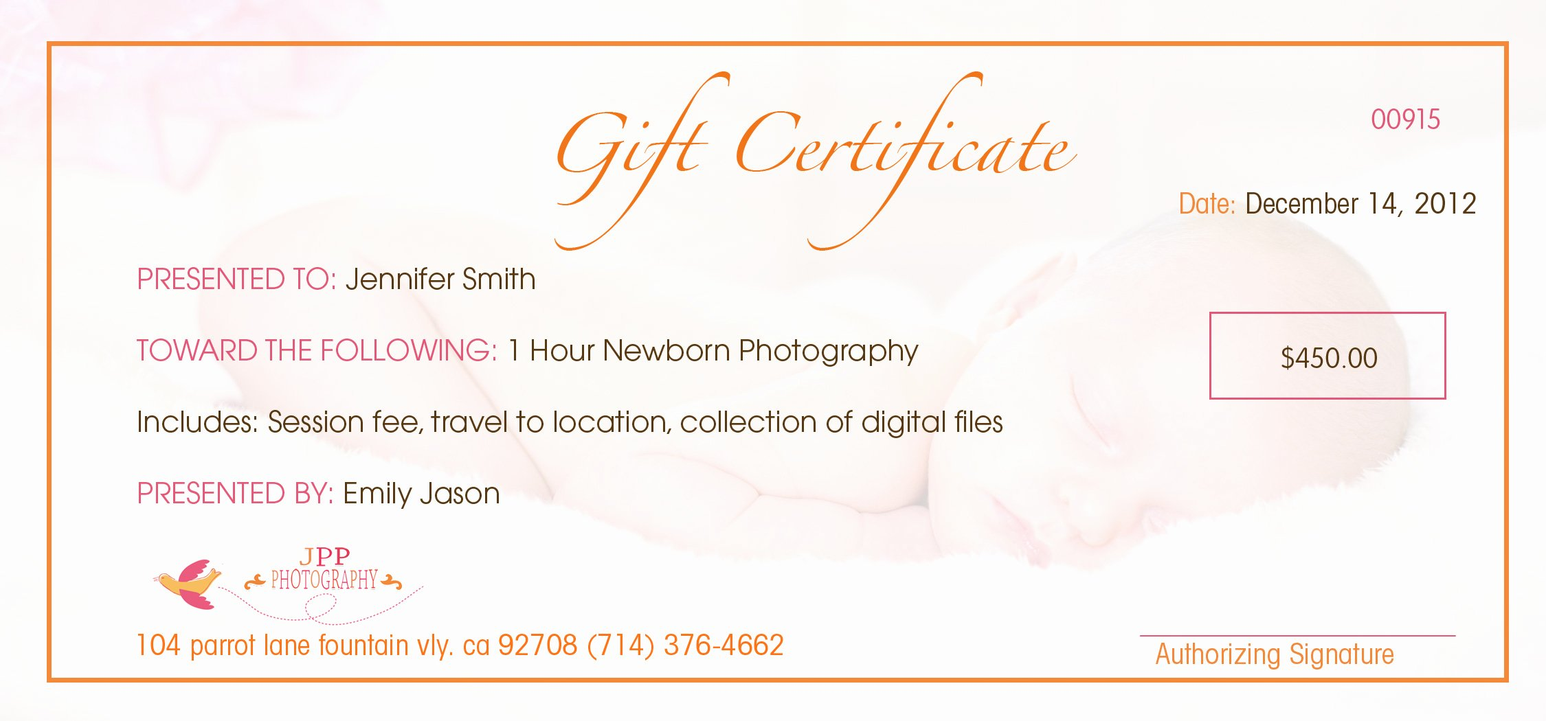 Wording for Gift Certificates Fresh Baby Gift Voucher Templatebaby Gift Voucher Template Hit