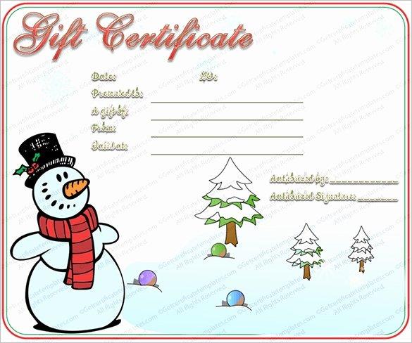 Wording for Gift Certificates Fresh Christmas Gift Certificate Template Free Invitation Template