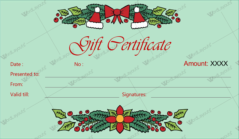 Wording for Gift Certificates Inspirational 12 Beautiful Christmas Gift Certificate Templates for Word