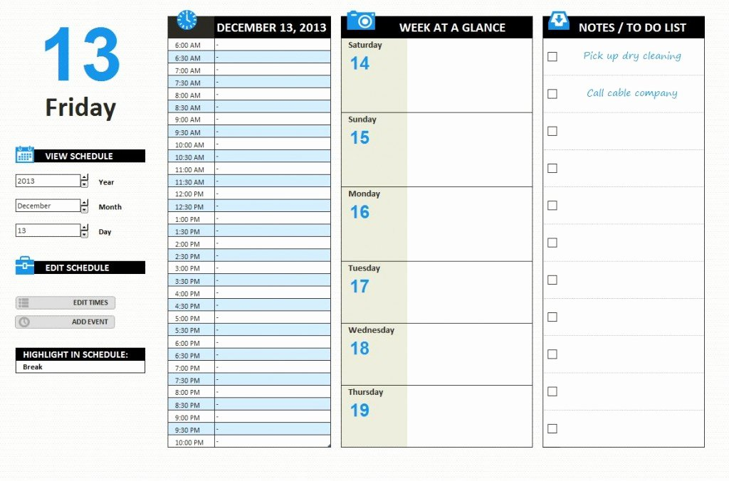 Work Plan Template Excel Awesome Daily Work Schedule Template Excel