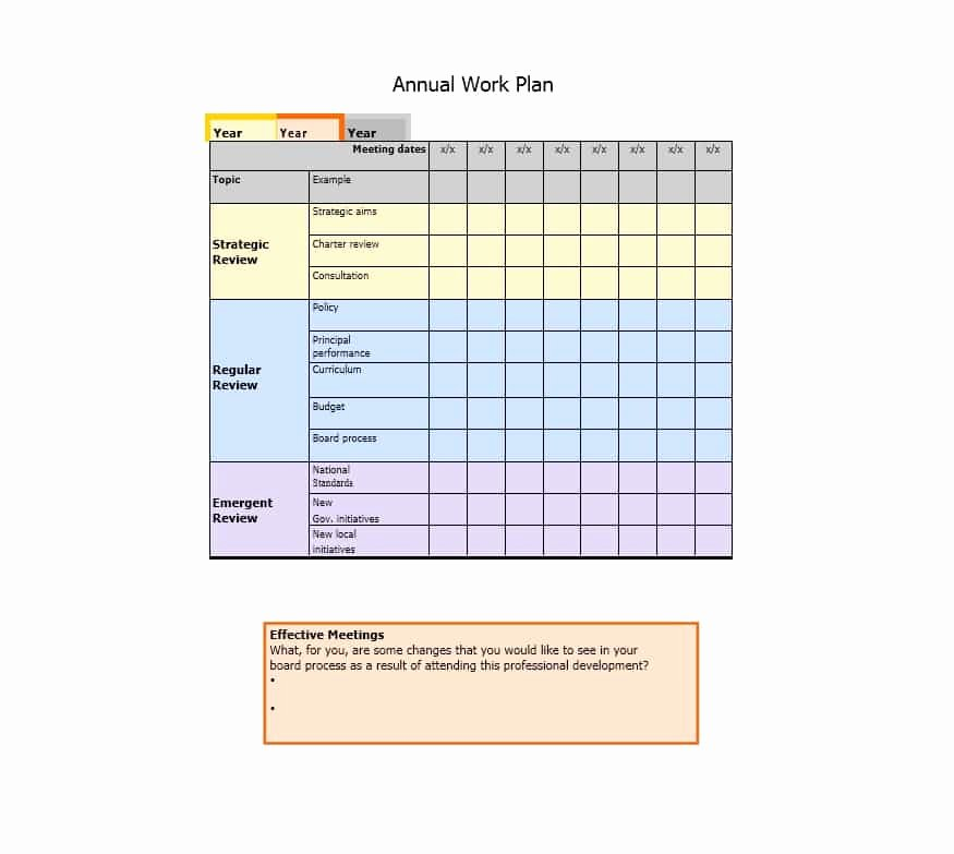 Work Plan Template Excel Awesome Work Plan 40 Great Templates & Samples Excel Word
