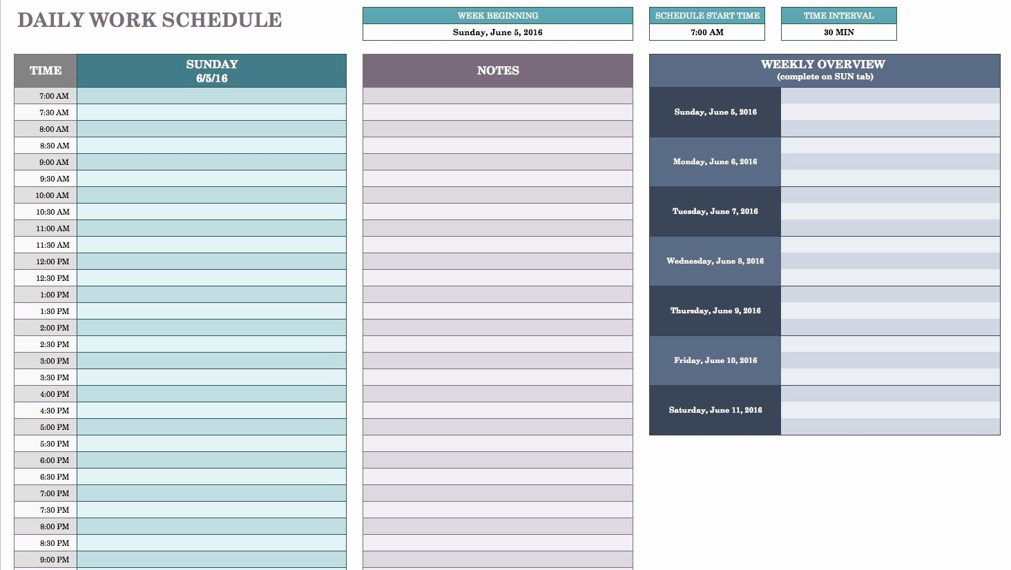 Work Plan Template Excel Beautiful Free Daily Schedule Templates for Excel Smartsheet