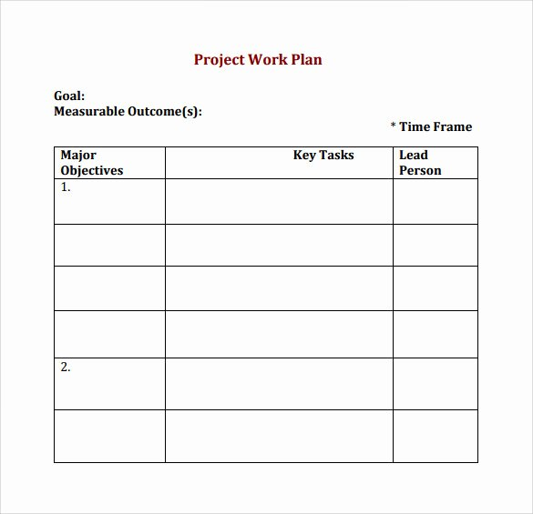Work Plan Template Excel Beautiful Work Plan Template 20 Download Free Documents for Word