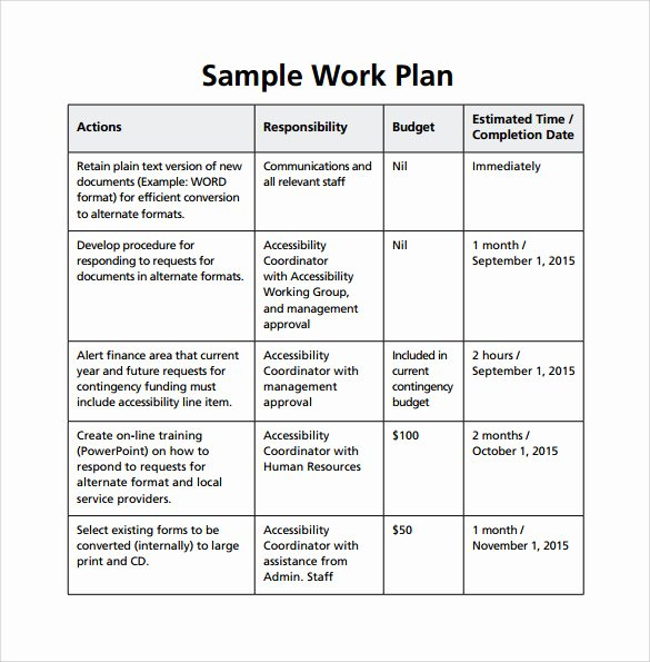 Work Plan Template Excel Lovely Work Plan Template 20 Download Free Documents for Word