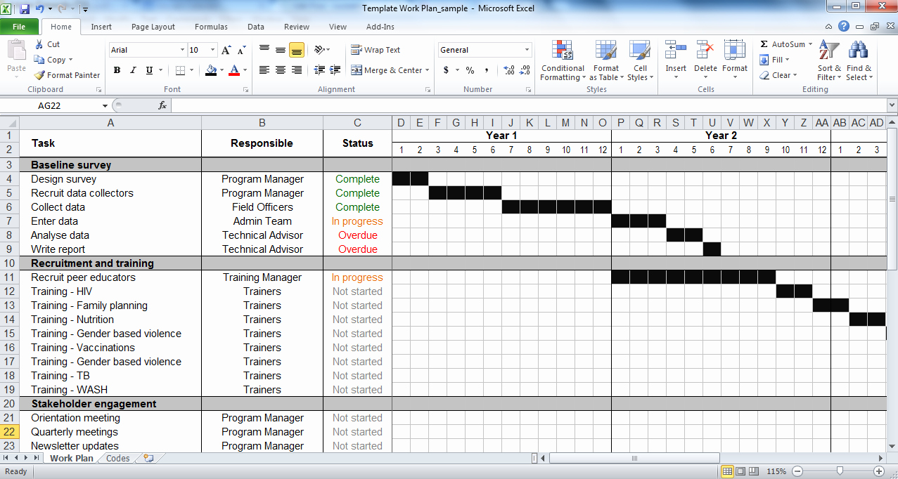 Work Plan Template Excel Lovely Work Plan Template