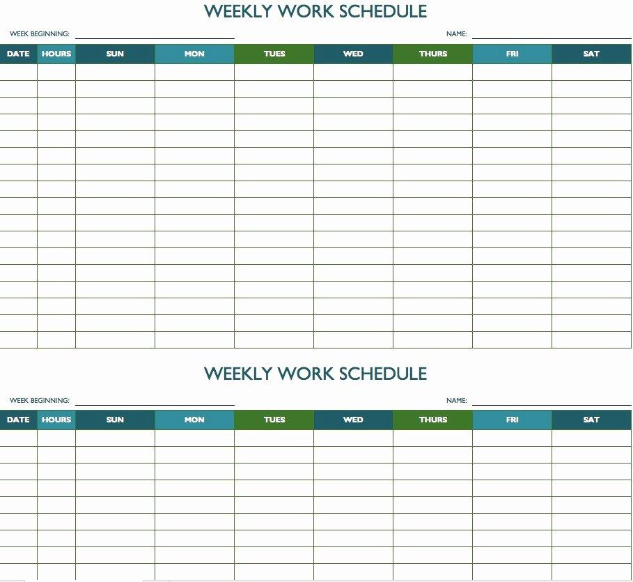 Work Plan Template Excel Luxury Free Weekly Schedule Templates for Excel Smartsheet