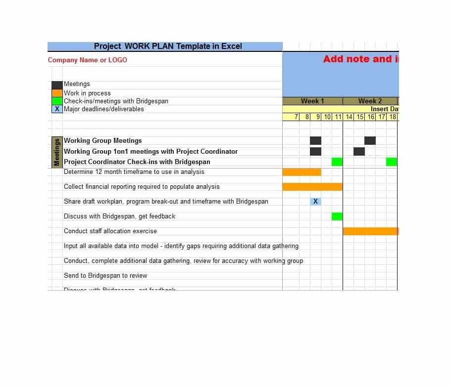 Work Plan Template Excel Luxury Work Plan 40 Great Templates & Samples Excel Word
