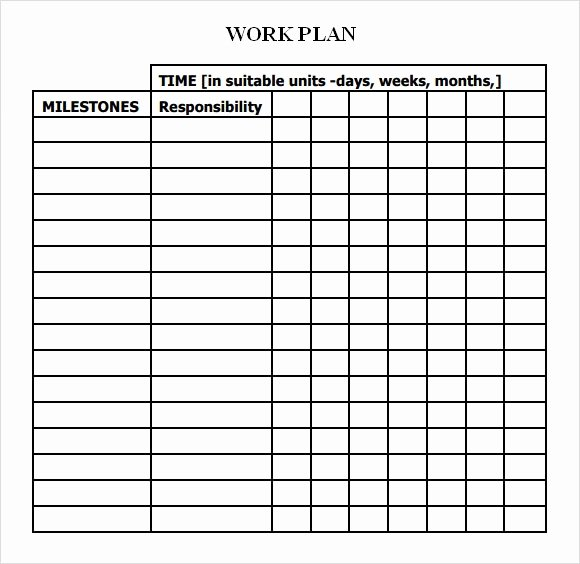 Work Plan Template Excel Luxury Work Plan Template 13 Download Free Documents for Word