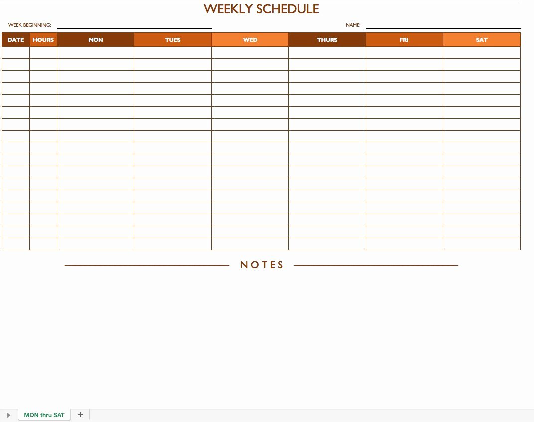 Work Plan Template Excel New Free Work Schedule Templates for Word and Excel