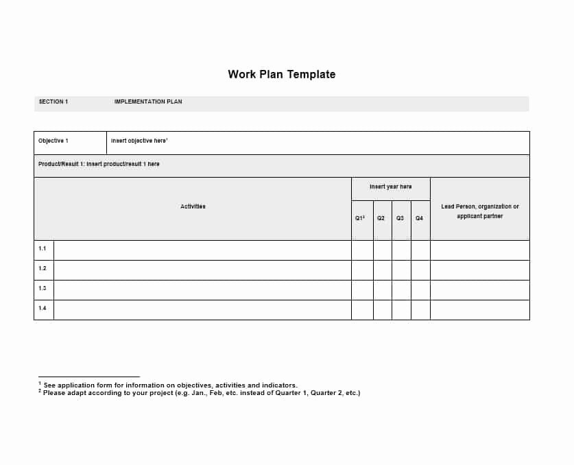 Work Plan Template Excel Unique Work Plan 40 Great Templates & Samples Excel Word