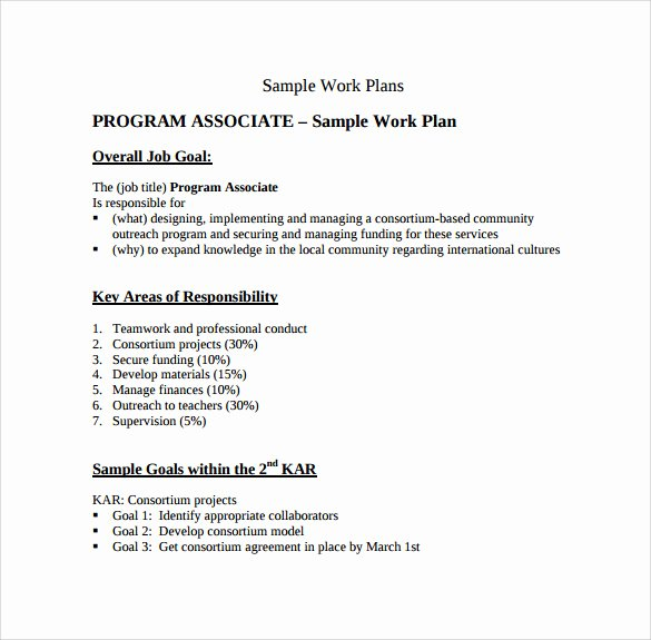 Work Plan Template Word Beautiful Work Plan Template 13 Download Free Documents for Word