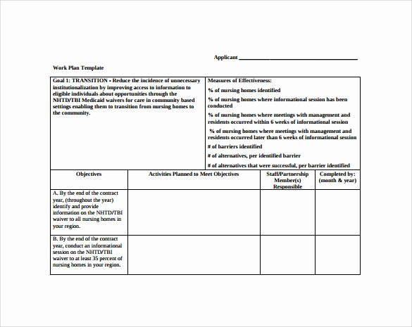 Work Plan Template Word Elegant Work Plan Template 20 Download Free Documents for Word