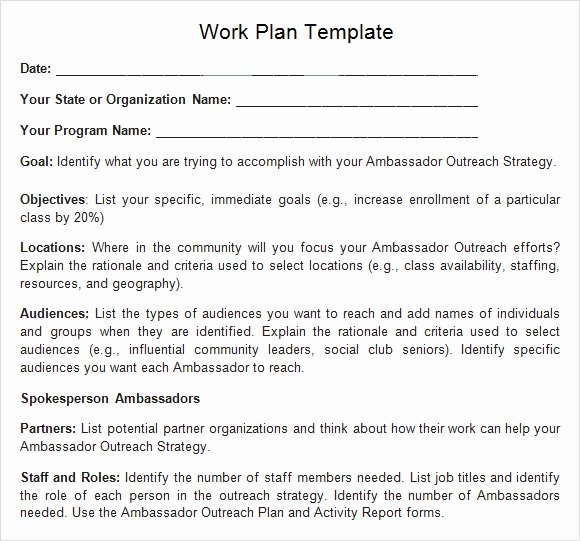 Work Plan Template Word Lovely Work Plan Template 13 Download Free Documents for Word