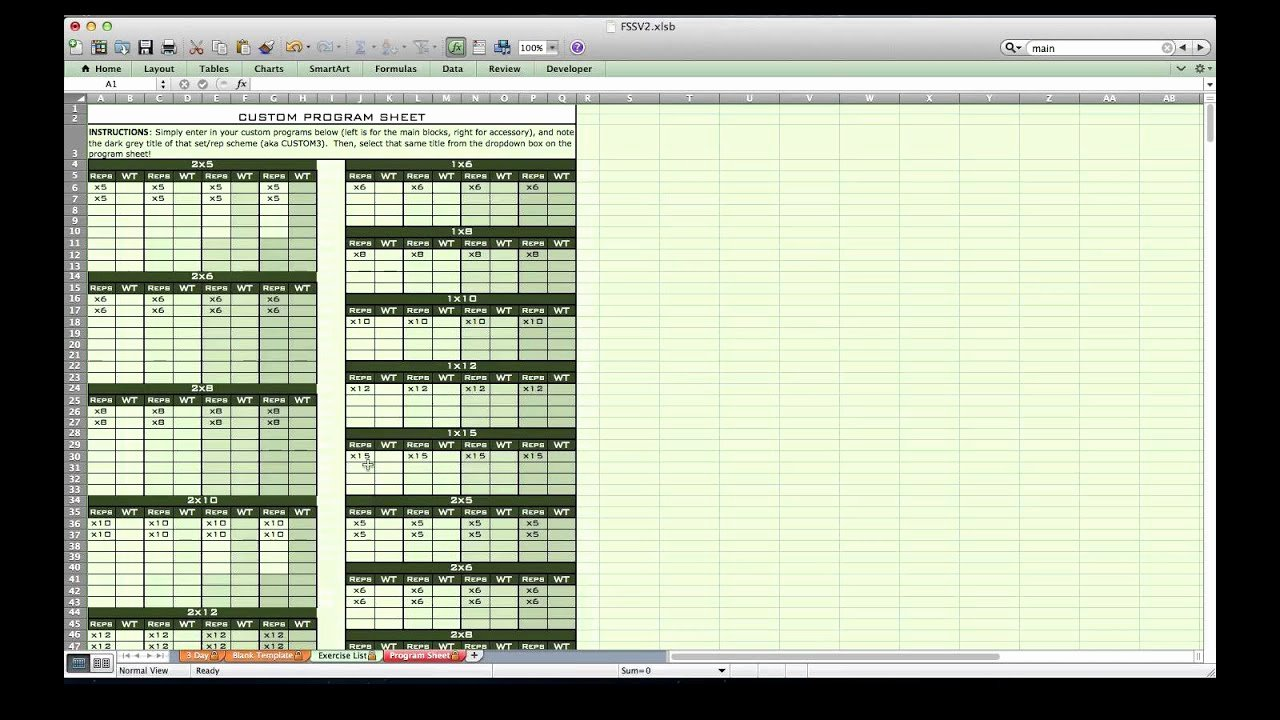 Workout Plan Template Excel Awesome Personal Training Excel Spreadsheet From Excel Training