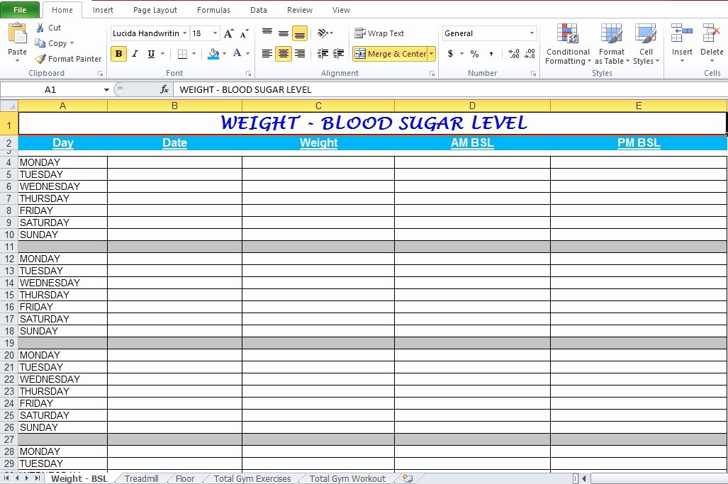 Workout Plan Template Excel Best Of Gym Workout Plan Spreadsheet for Excel Excel Tmp