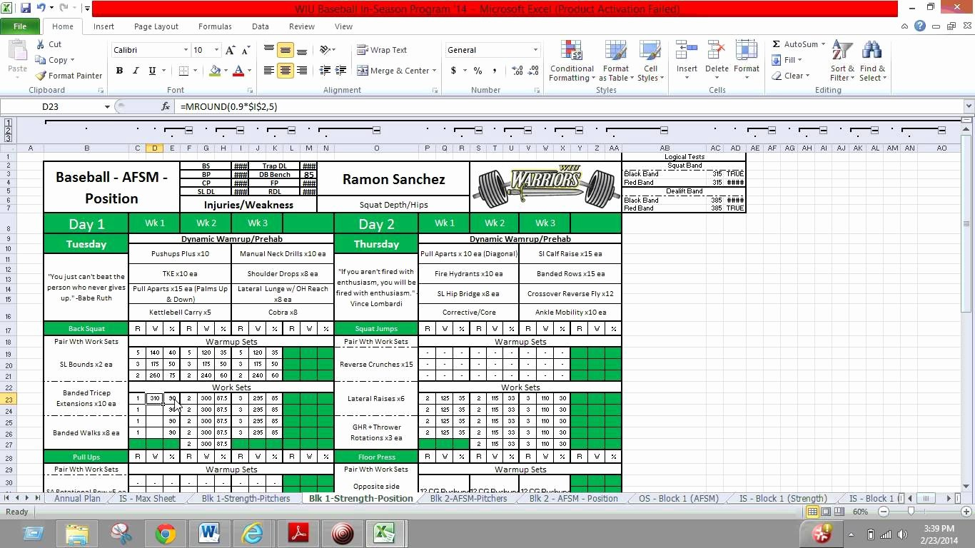 Workout Plan Template Excel Elegant Phul Workout Excel – Eoua Blog