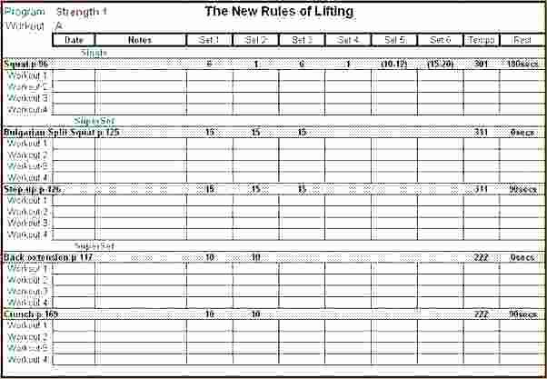 Workout Plan Template Excel New Excel Workout Spreadsheets
