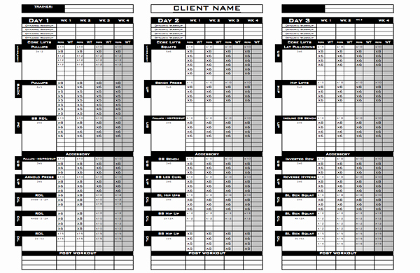 Workout Plan Template Excel Unique How & why Excel Training Designs