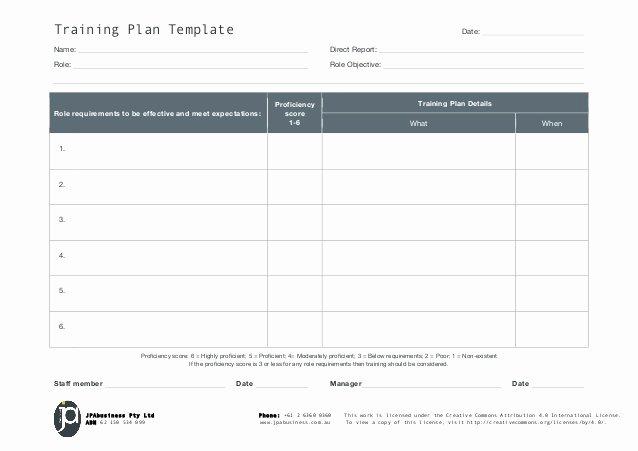 Workout Plan Template Pdf Awesome Jpabusiness Staff Training Plan Template