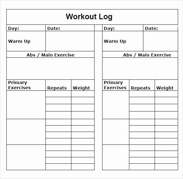 Workout Plan Template Pdf Best Of 9 Workout Log Templates