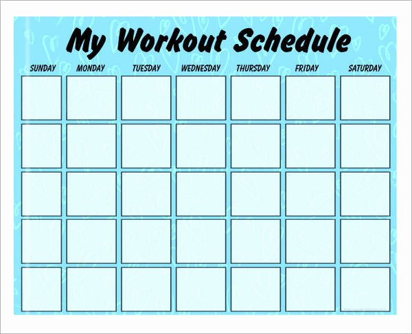 Workout Plan Template Pdf Elegant 4 Sample Workout Schedule 4 Documents In Excel Pdf