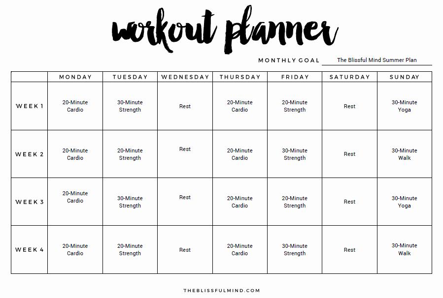 Workout Plan Template Pdf Fresh 9 Excel Workout Templates Excel Templates