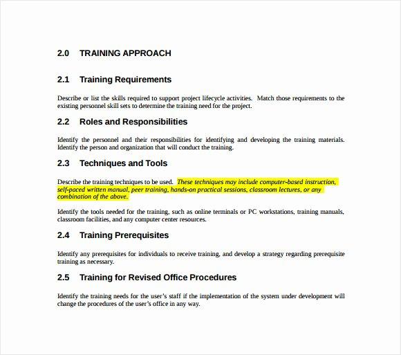 Workout Plan Template Pdf Inspirational Sample Training Plan 12 Example format
