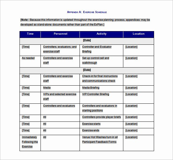 Workout Plan Template Pdf Lovely Exercise Schedule Template – 7 Free Word Excel Pdf