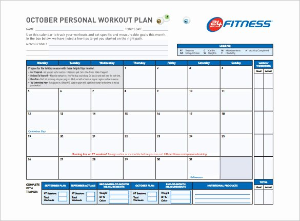 Workout Plan Template Pdf New Workout Schedule Template 6 Free Sample Example format
