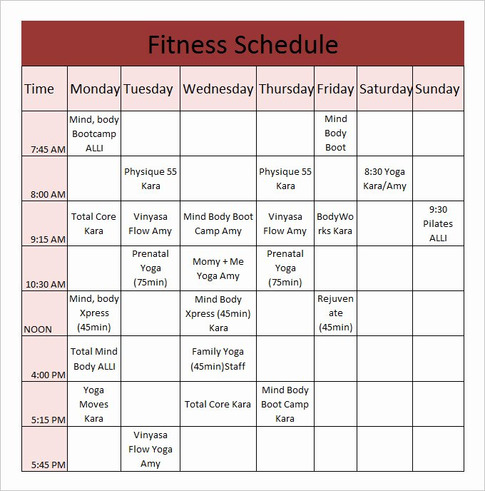 Workout Plan Template Pdf Unique Daily Workout Calendar 2018 Template Excel Word Pdf